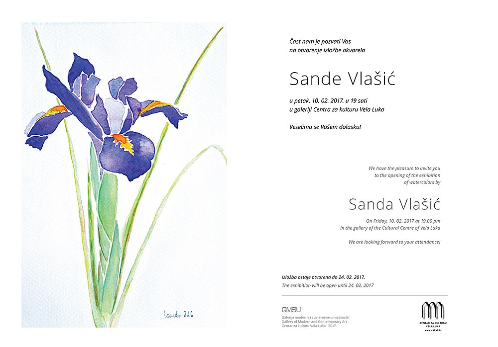 Exhibition: Watercolours by Sanda Vlasic
