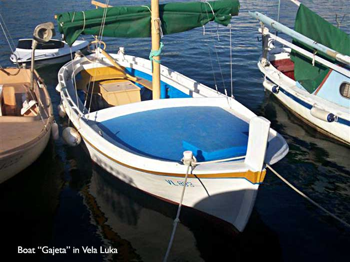 Gajeta Boat in Vela Luka