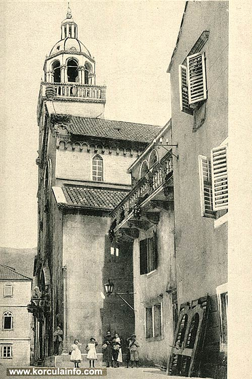St. Mark's Cathedral, Korcula Town, photo from 1900s