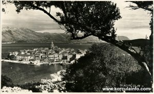 Panorama Korcula with trees (1900s)