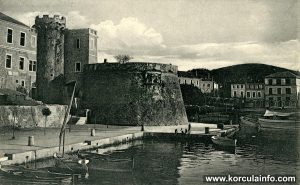 Port of Korcula (Riva) in 1920
