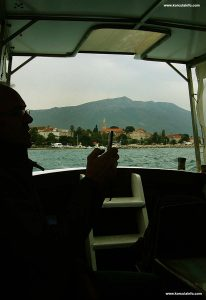 Enjoying boat ride from Orebic to Korcula