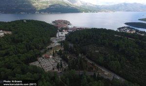 Panorama Korcula (with cemetery) 2017