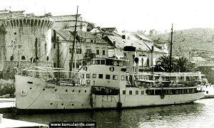 Steamboat Šipan @ Riva in Korcula in 1960s