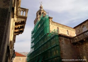 Restoration works on Sveti Marko Cathedral in Korcula