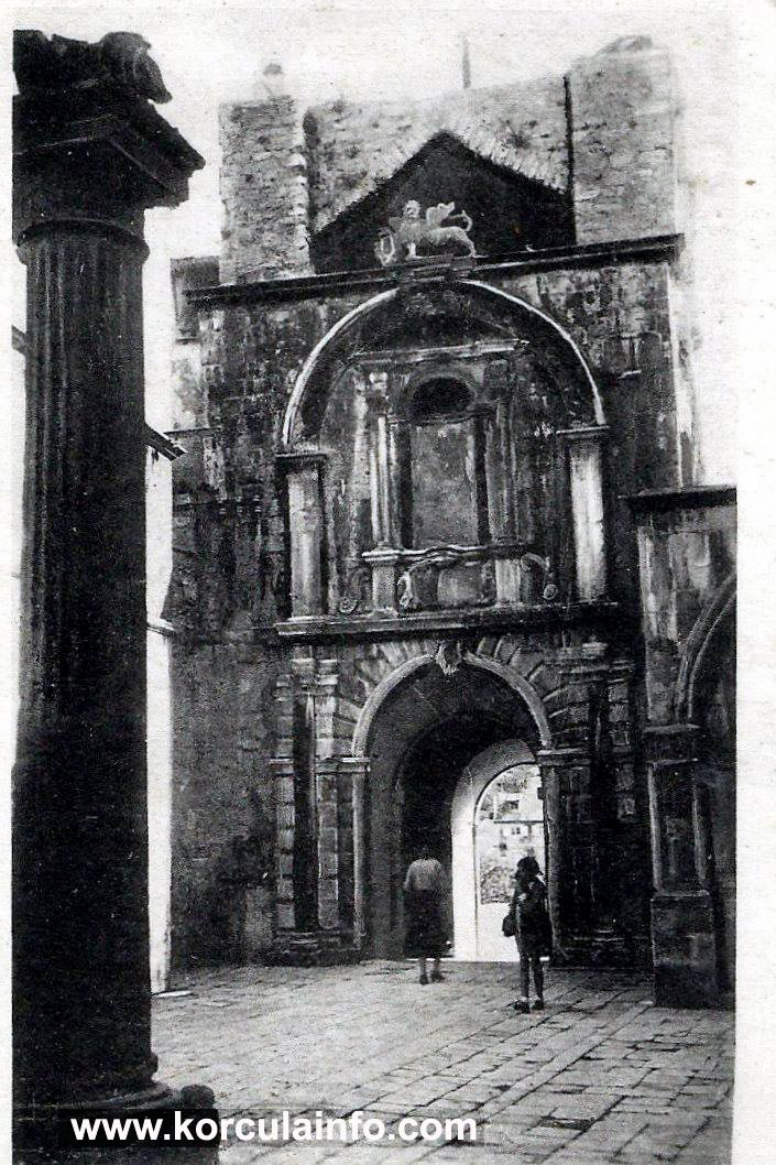 Trg Brace Radic, Korcula 1920s
