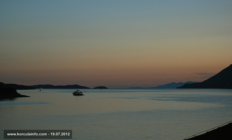 Yacht in Peljesac Channel