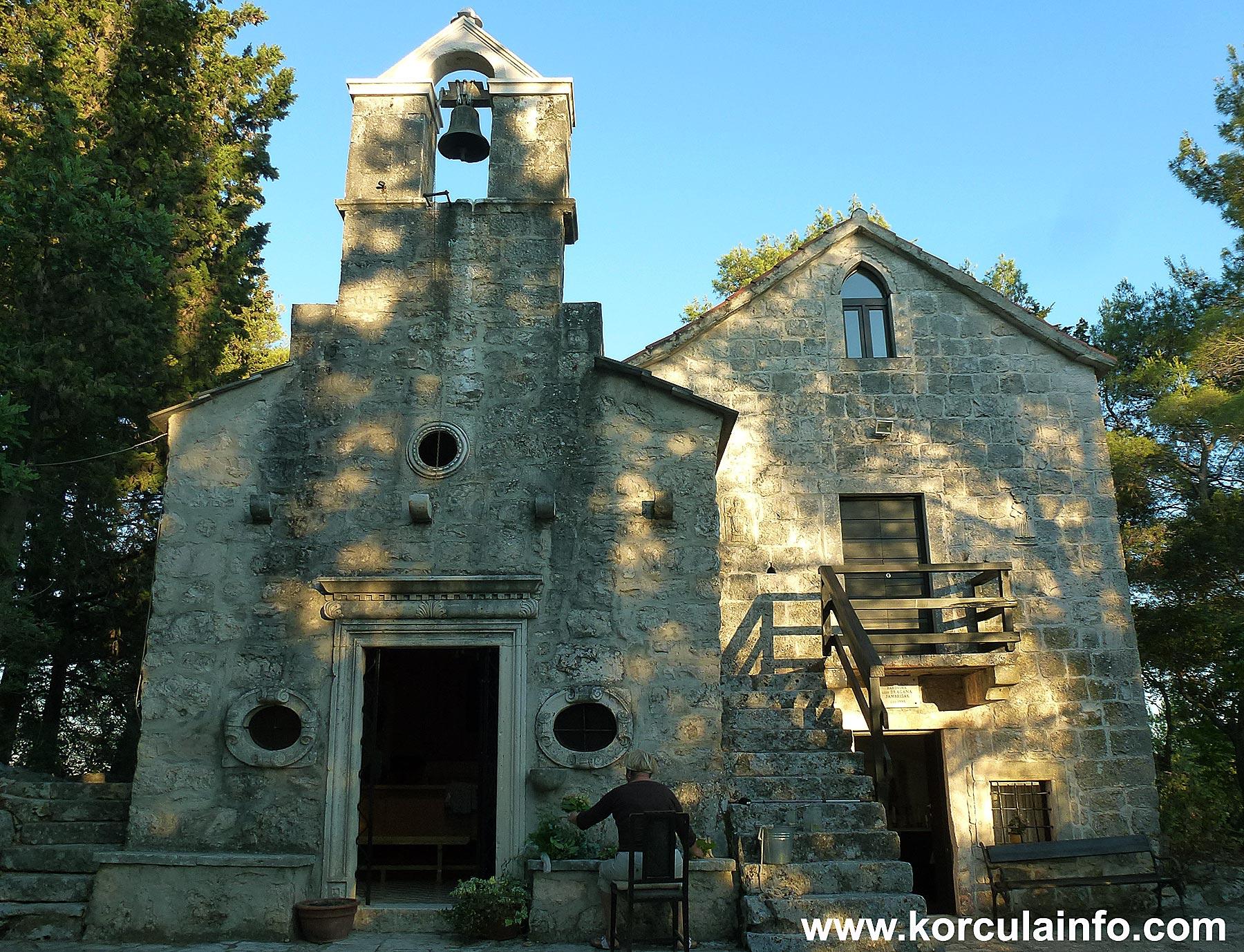 South facade of St Antony's church, Korcula