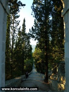 102 steps and avenue of cypress trees @ St Anthony's Church