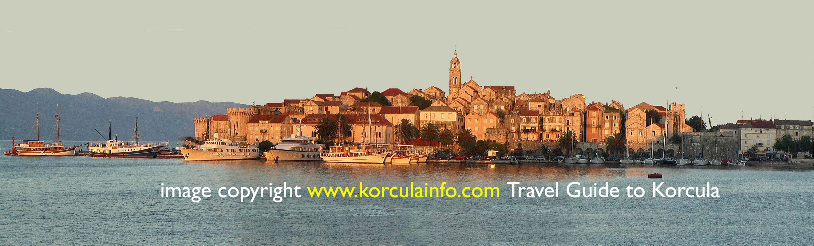 Large Panorama photo of Korcula Old town
