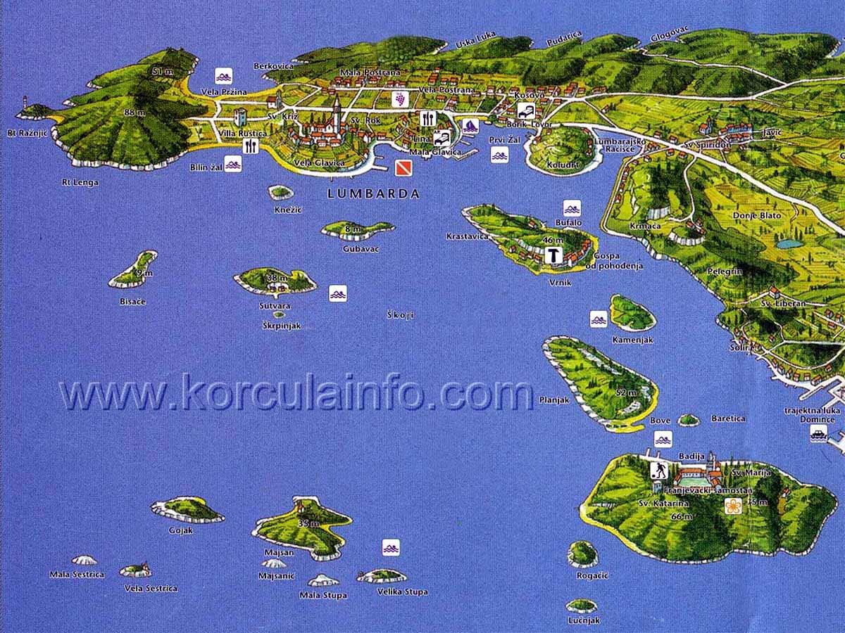 Korcula Maps Korculainfo Com