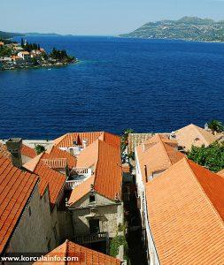 Views over Sveti Nikola and Arneri's Palace