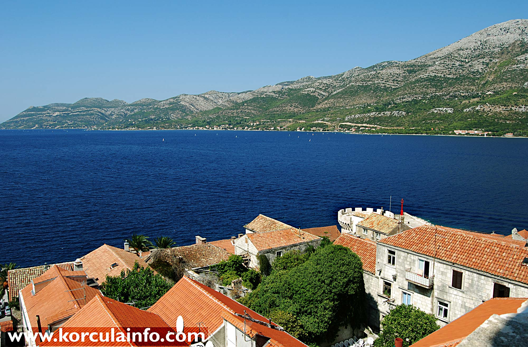 Views over Peljesac Channel from the Tower of St Mark's Cathedral