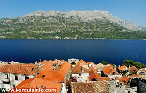 Views over Peljesac and Zakrjan Tower from the Tower of St Mark's Cathedral