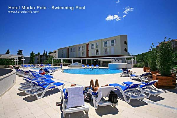 Summer day at swimming pool
