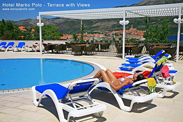 Open air swimming pool at the Hotel Marko Polo
