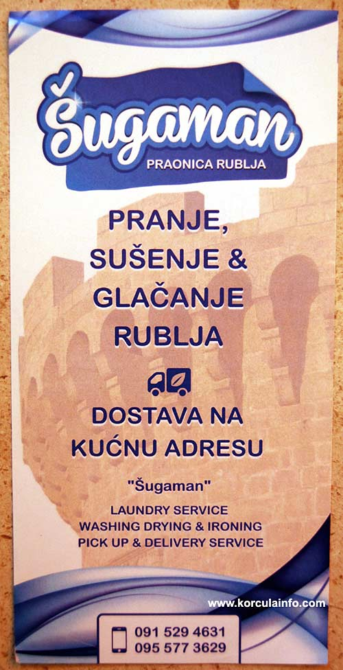 Sugaman - Laundry Service in Korcula