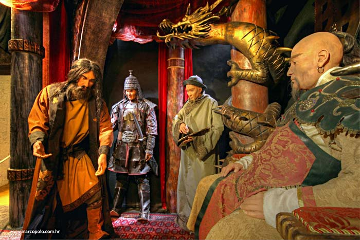 Marco Polo Museum Exhibition Scene: At Kublai Khan's Court