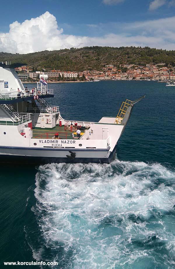 Car Ferry Split - Vela Luka (Korcula Island) - Lastovo