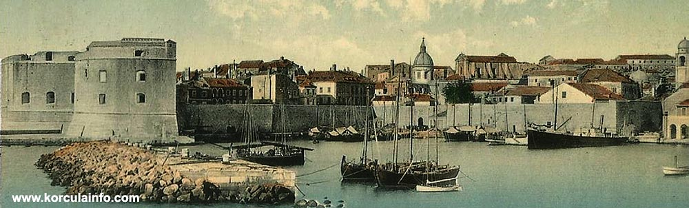 Romantic image of Dubrovnik from 1900s