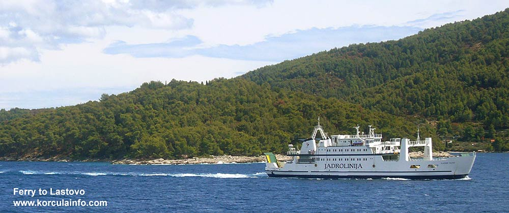 by ferry to Lastovo from Korcula island