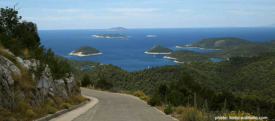 Some of the best views/vistas are from the road above these bays - lastovo day trip