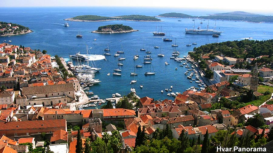 Day trip to Hvar - views from Spanjola fort