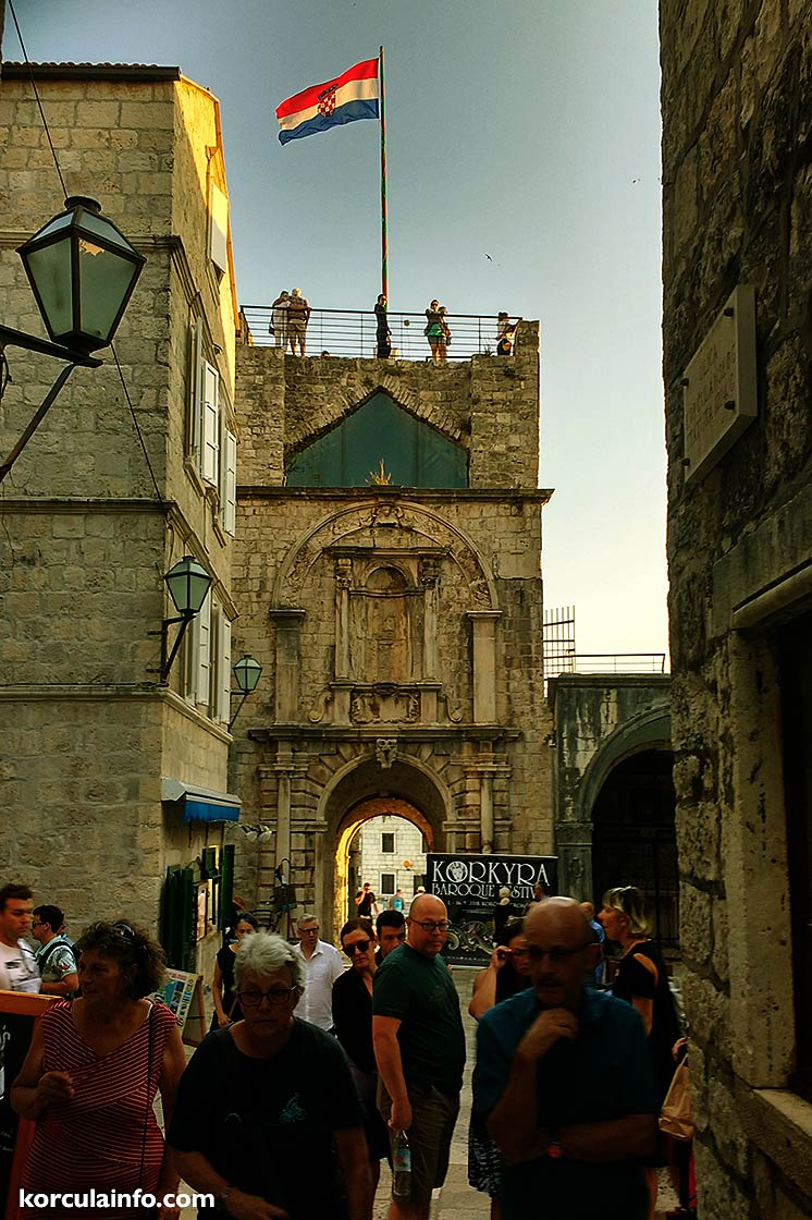 walking along the old town's streets