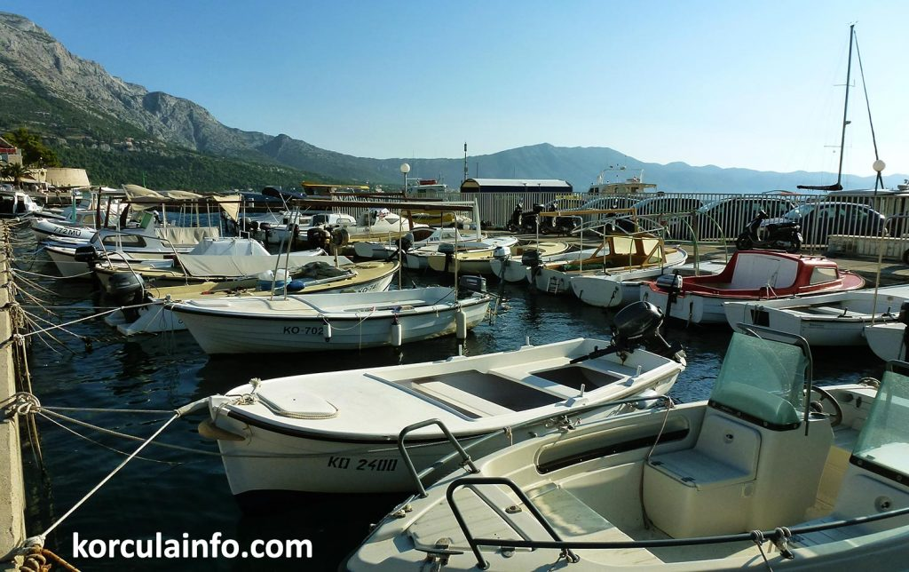 Local marina with small boats available to rent for a day or two