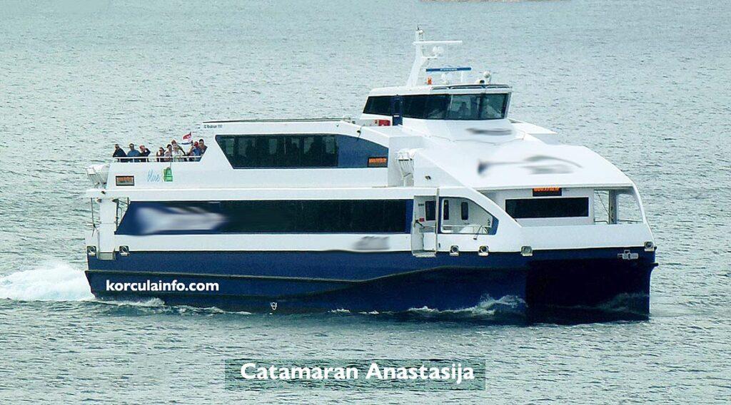 Catamaran ferry Anastazija, Croatia