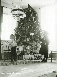 Christmas Tree in Korcula in 1911