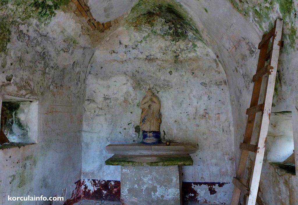 The altar St Elias (Eliah) Church , Veliki Hom, Korcula Island
