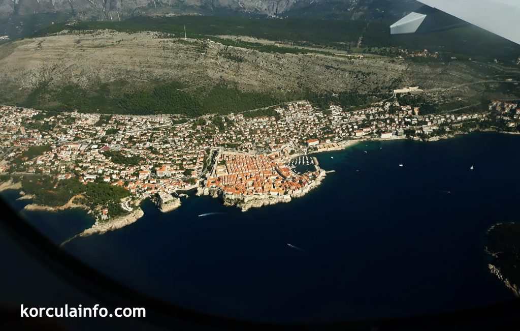 Approach to Dubrovnik Airport