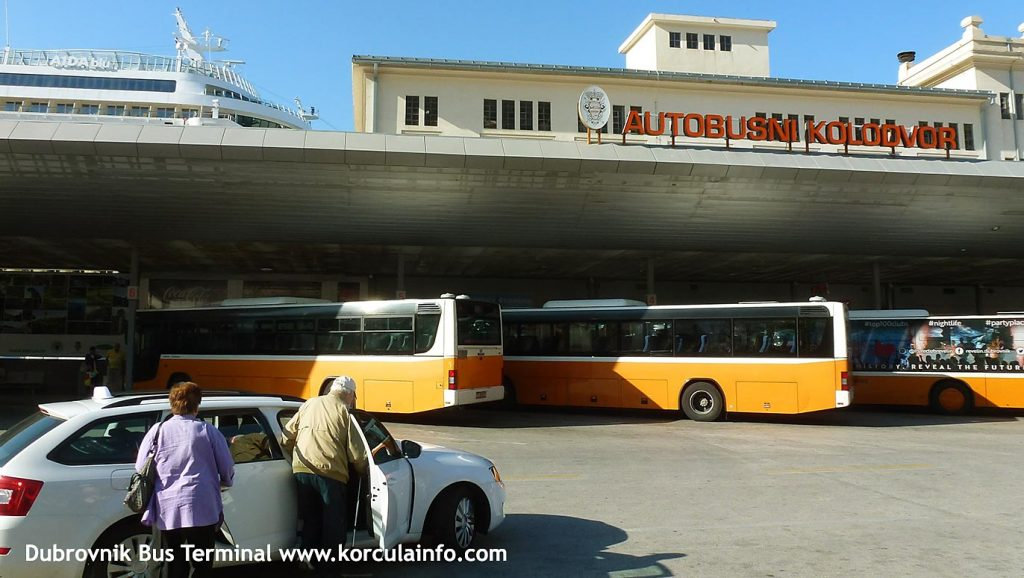 The bus station in Dubrovnik