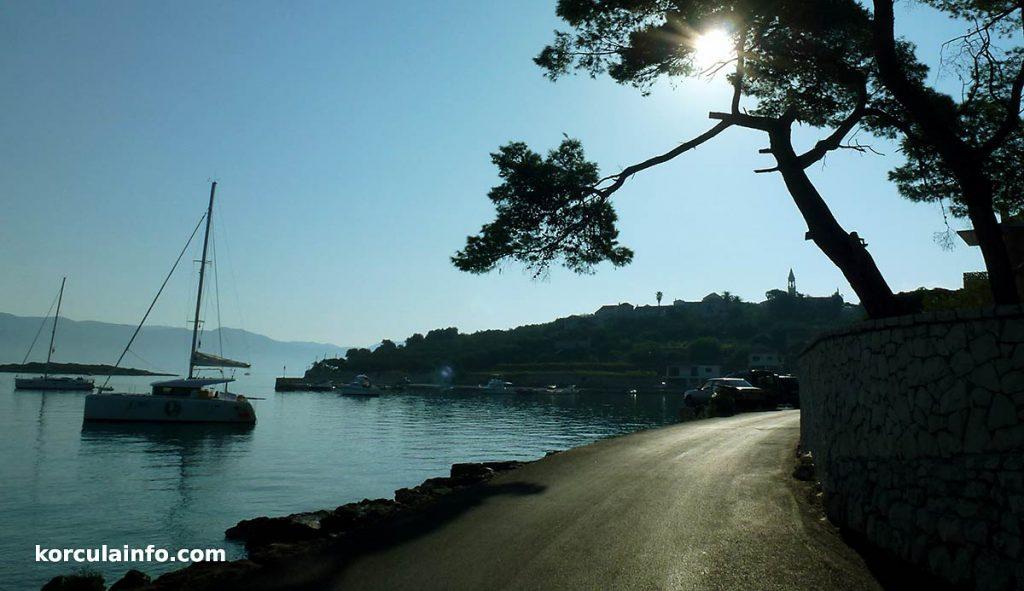 Scenic road leading to Lumbarda