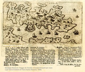 Map of Curzola (1606)