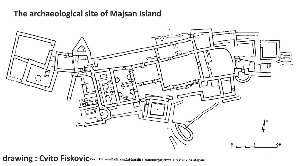 The archaeological site on Majsan
