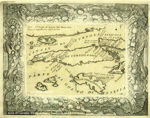 Curzola Map from 1689