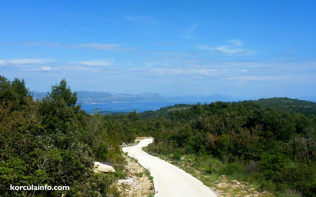 Views over the Peljesac channel and Skoji archipelago