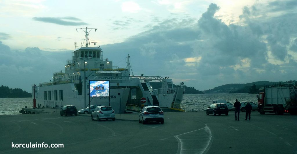 Embarking ferry in Domince (Korcula) port