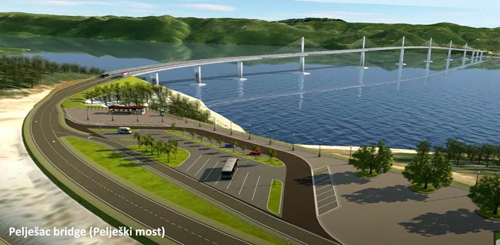 Peljesac bridge (3d visualisation 2020)